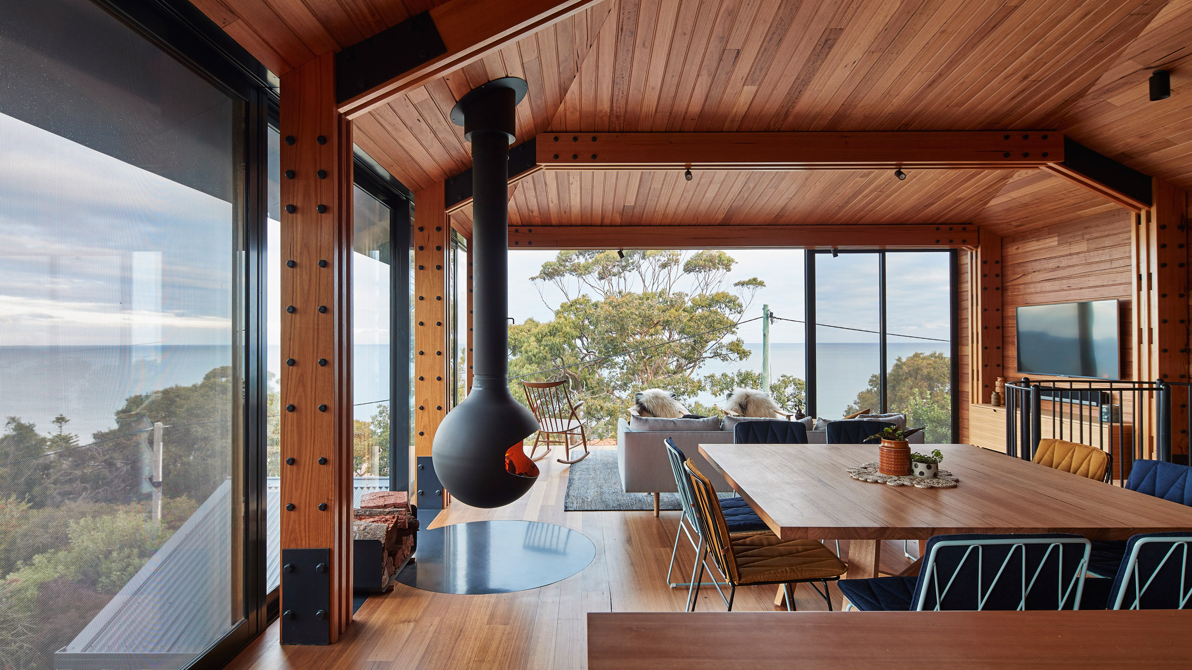 Glasshouse On Stilts By Austin Maynard Architects Extends Australian Beach  Shack